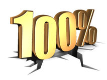 100 percent sign Royalty Free Stock Photo