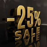 25 Percent Sign. 3d 25 Sale Banner or Poster Discount Template, Retail Image 25 Sale Sign, Special Offer, Money Smarts Sticker, Save On 25, Sale 25 Off, Budget Royalty Free Stock Photos
