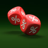 Percent sign on the dice Royalty Free Stock Images