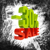 30 Percent Sign Royalty Free Stock Images