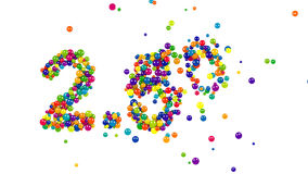 2.5 percent sign formed by colorful candy sweets stock footage