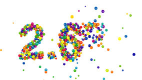 2.6 percent sign formed by colorful candy sweets stock video footage