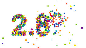 2.8 percent sign formed by colorful candy sweets stock footage