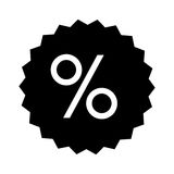 Percent sign icon image Royalty Free Stock Images