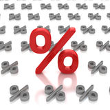 Percent sign price Royalty Free Stock Images