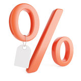 Percent sign and price tag Royalty Free Stock Image