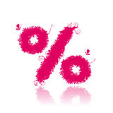 Percent sign. See more in my gallery Stock Image
