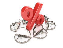 Percent sign and traps Stock Photo