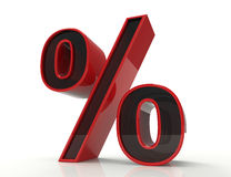 Percent sign on white Royalty Free Stock Photography