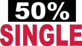 50 percent single lettering. Flirting vector Royalty Free Stock Images