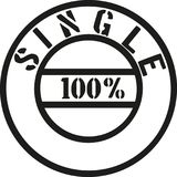 100 percent single stamp. Vector Royalty Free Stock Images