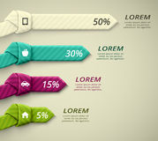 Percent statistics Stock Images