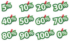 Percent sticker. Vector illustration Stock Image