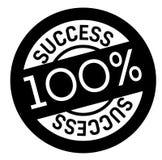 100 percent success stamp on white. Background. Sign, label, sticker stock illustration