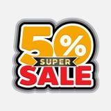 50 percent super sale. Element for promotion advertising royalty free illustration