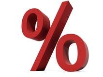 Percent symbol. Isolated on white background Royalty Free Stock Images