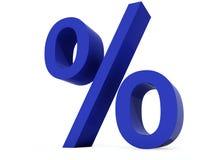 Percent symbol. Isolated on white background Stock Photos