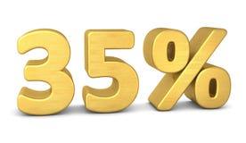 35 percent symbol 3d gold royalty free illustration