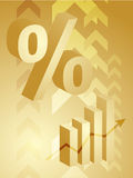 Percent symbol illustration. Abstract financial success illustration with percent symbol Royalty Free Stock Photos