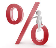 Percent symbol and person royalty free stock photo