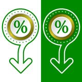 Percent symbol Royalty Free Stock Images