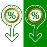 Percent symbol Royalty Free Stock Images