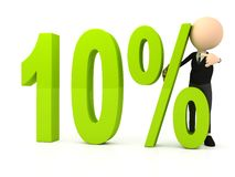 Percent symbol on white background Royalty Free Stock Photos