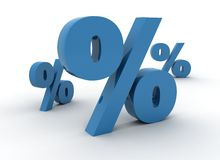 Percent symbols Stock Photo
