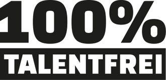 100 percent talentfree. Vector icon Stock Photo