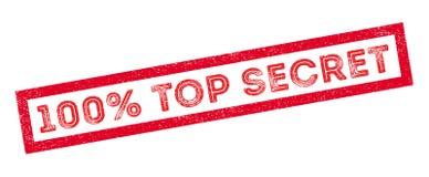 100 percent top secret rubber stamp. On white. Print, impress, overprint Stock Image