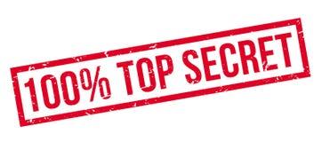100 percent top secret rubber stamp. On white. Print, impress, overprint Stock Photos