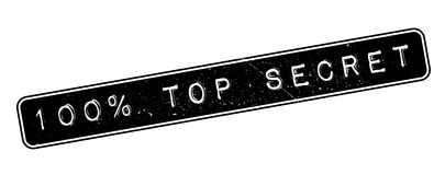 100 percent top secret rubber stamp. On white. Print, impress, overprint Royalty Free Stock Photos