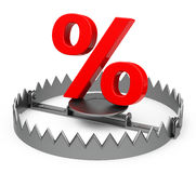The percent trap Royalty Free Stock Photo