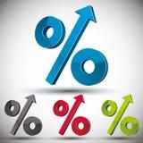 Percent up. Stock Image