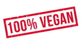 100 percent vegan rubber stamp Royalty Free Stock Images