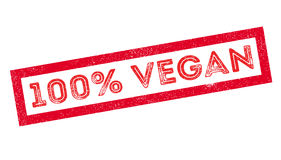 100 percent vegan rubber stamp. On white. Print, impress, overprint Royalty Free Stock Images