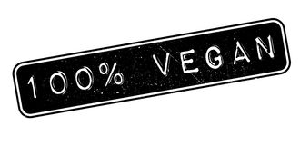 100 percent vegan rubber stamp. On white. Print, impress, overprint Royalty Free Stock Photos