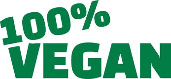 100 percent Vegan. Vector icon royalty free illustration