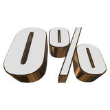0 percent on white background Royalty Free Stock Image