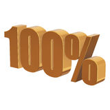100 percent on white background Royalty Free Stock Photo