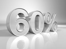 Percentage. 60% discount percentage 3d rendered Royalty Free Stock Image