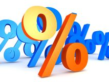 Percentage Royalty Free Stock Photo