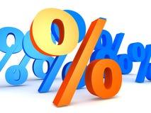 Percentage. 3d rendered illustration of percent signs stock illustration