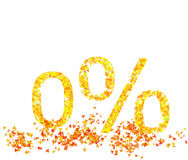 Percentage of autumn leaves Royalty Free Stock Photography