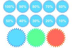 Percentage Badges Stock Photography