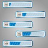Percentage bars. Vector illustration. Percentage progress monitoring. Diagram bars Stock Photos
