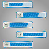 Percentage bars. Vector illustration. Royalty Free Stock Photography