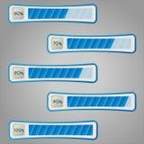 Percentage bars. Vector illustration. Percentage progress monitoring. Diagram bars Royalty Free Stock Photography