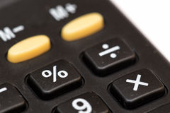 Percentage. The Percentage button of a calculator machine Stock Image