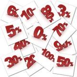 Percentage collection Stock Photos